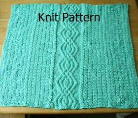 Knit Pattern - Baby Blanket pattern - cable warm unique