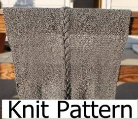 Knit Pattern - Baby Blanket pattern - easy warm cable