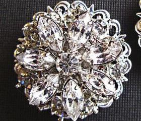 Wedding Shoe Clips, Bridal Accessories, &quot;Crystal Bouquet&quot;, Christmas Gift, Stocking Stuffer, Formal Holiday Jewelry