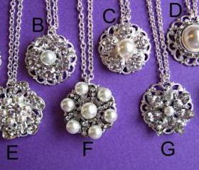 Wedding necklaces, 8 Choices, Bridesmaids, Christmas Gift, Stocking Stuffer, Formal Holiday Jewelry