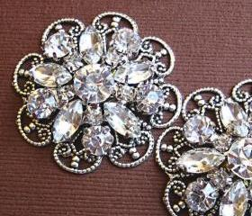 "Wedding Shoe Clips Rhinestone Flower Shoe Clips, Wedding Accessories,""Crystal Bouquet"" Christmas, Formal, Party, Holiday J"