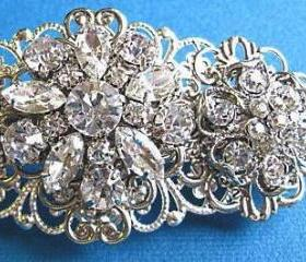 Wedding hair Barrette, bridal accessories, Blooming