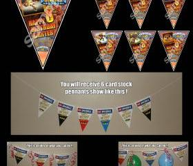Skylanders Giants 6-Triangle Pennant Banner