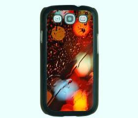 Colorful rain drop of water-- Samsung Galaxy S3 case,durable plastic case in black,white,clear