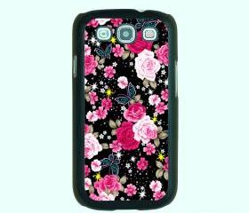 Floral -- Samsung Galaxy S3 case,durable plastic case in black,white,clear
