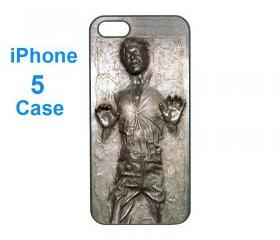Iphone 5 case,iphone 4 case--Han Solo Frozen,start war , durable plastic case in black or white