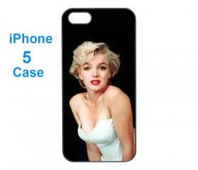 Iphone 5 case,iphone 4 case--Marilyn Monroe , durable plastic case in black or white