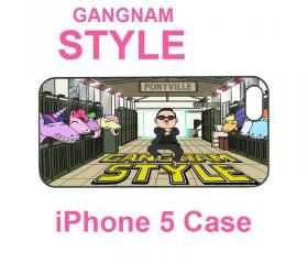 Iphone 5 case,iphone 4 case--Gangnam Style, durable plastic case in black or white