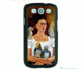 iphone 4 case,Iphone 5 case,Samsung Galaxy S3 case--Frida Kahlo, durable plastic case in black or white