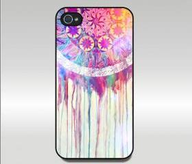 iphone 4 case,Iphone 5 case,Samsung Galaxy S3 case-- dream catcher, durable plastic case in black or white