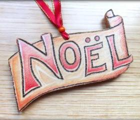 Wood Noel - wonderfully woodburnt Hand Crafted hanging decoration