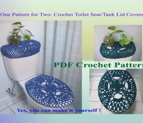 One Pattern for Two - Toilet Seat Cover & Toilet Tank Lid Cover (29VC2012)
