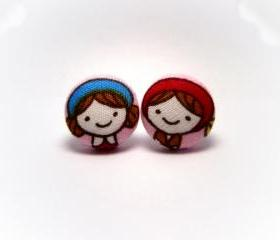 Button earrings -Cooking MaMa
