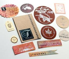 Fall/Thanksgiving Embellishments (13 pieces) by The Leaf Studio. FREE shipping