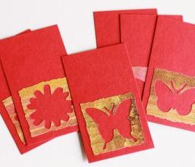 Butterfly Kisses Tags.Embellishments (set of 6) by The Leaf Studio. FREE shipping