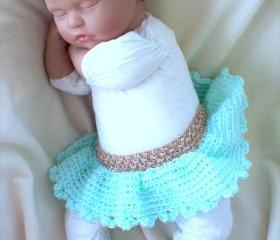 Turquoise newborn tutu and headband set