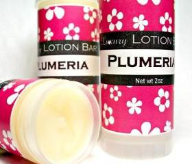 Plumeria Lotion Bar, tropical floral, moisturizing formula