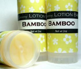 Bamboo Lotion Bar, light fresh herbal fragrance