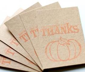 Pumpkin Thanks Tags (set of 6) by The Leaf Studio. FREE shipping