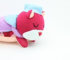 Cute Sleeping Bear, Soft Plush, Sock Plush