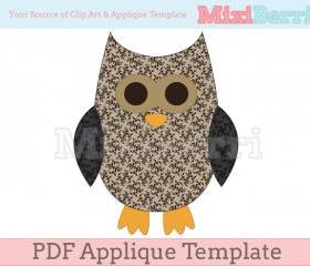Applique Template Owl PDF