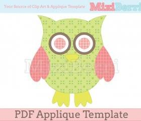 Owl Applique Template PDF