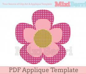 Flower Applique Template PDF