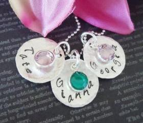 Wedding- Hand Stamped Jewelry-Bridal Jewelry-Bridesmaid Necklace-Personalized Jewelry-Custom Wedding Jewelry