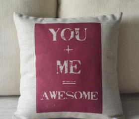 You and Me Print Decorative Pillow
