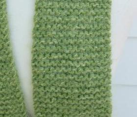 knit green winter scarf soft plush warm mint