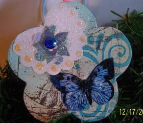 Butterfly Sparkle Ornament #3