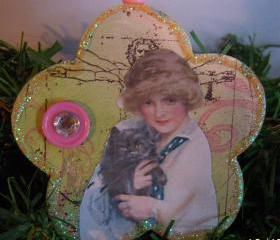 Lady With Cat Ornament #2