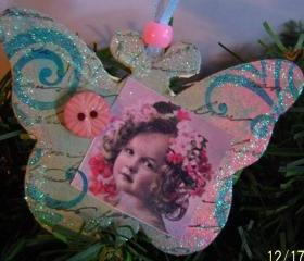 Swirly Butterfly Girl Ornament #11