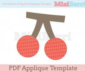 Cherry Applique Template PDF