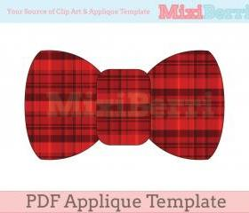 Bow Tie Applique Template PDF