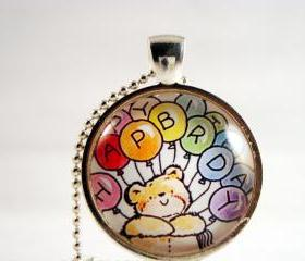Happy Birthday pendant necklace