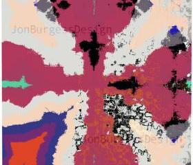 'RedCrossOrangeBlue' an abstract art print