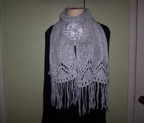 Two colors Hand Knitted Scarf/Cowl/Neck Warmer