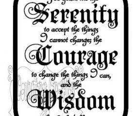 Serenity Prayer Vinyl Decal