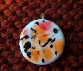 Orange Ceramic Pendant