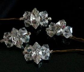 Crystal Bobby Pins, Wedding Hair Accessories - Diamante and Crystal Hair Grips, Sparkly hair accessories