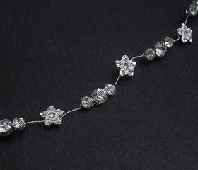 Hair Vine - Wedding Bridal, Diamante Flowers, Bridal Hair Accessories