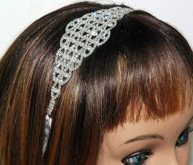 Wedding Fashion Jewelry Head Piece - Bridal Ribbon Headband - Wedding Hair Jewellery - Bridal Hair