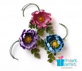 Fabric flower broach, cute retro corsage, fabric brooch
