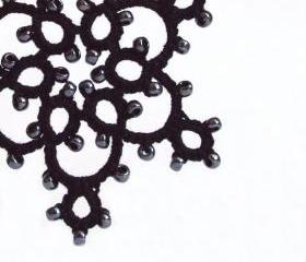 Large Gothic Black Holiday Decoration