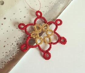 Red, Gold Christmas Tree Ornament