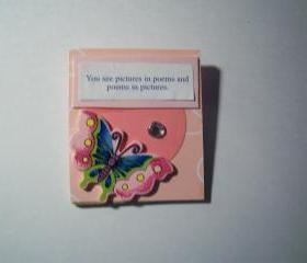 Pink wooden Magnet 