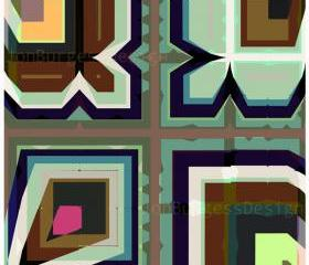 'AsymGreenBlackBrown' an abstract art print
