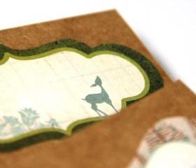 OH DEER - Holiday Pocket Notebook - Woodland Deer Note Pad - Set of 2 - Stocking Stuffer - A6 Size - Free Shipping