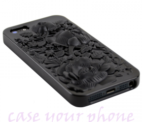 iPhone 4G / 4S Premium 3D Floral Rose TPU Case